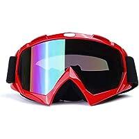 YENJOS - Gafas de esquí y Snowboard Unisex Resistentes al Viento, Rojo, 7 x 4,1 pollici (L x W)