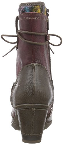 Mustang  Stiefelette, Bottes Classics courtes, doublure froide femmes Multicolore - Mehrfarbig (352 braun / rot)