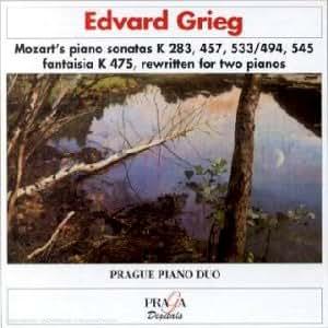 Sonates pour piano K 283, 457, 494, 533 & 545 / Fantaisie K.475 (arr.Grieg)