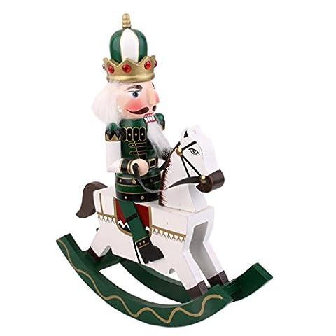 Casse-Noisette Ancien Bois écossais Bascule Roi à Cheval Figurine Cadeaux