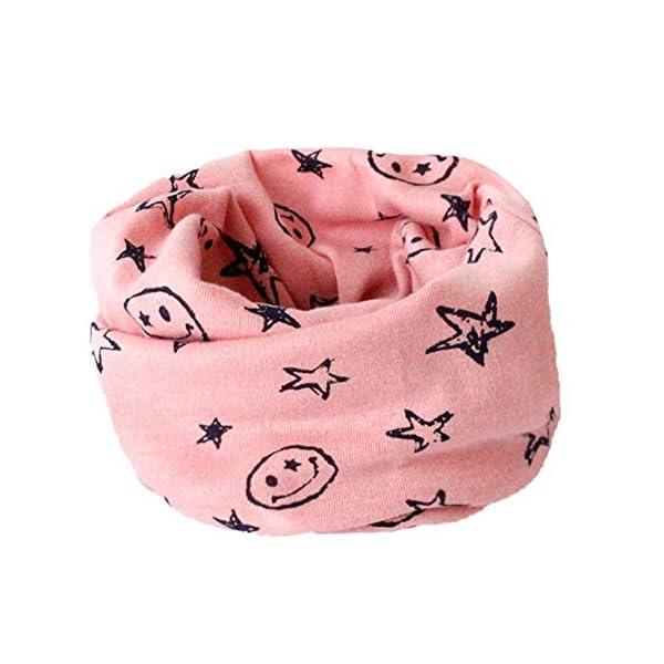 Danolt Bufanda de los niños, Bufanda de algodón de Invierno Calentador de Cuello Pañuelos para bebés, niños y niñas, 0-3… 4