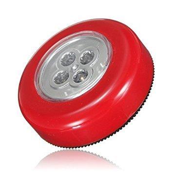 TOOGOO(R) LAMPES 4 LEDS touche ADHESIVES AUTOCOLLANTES SPOT PLAFONNIER portable SANS FIL