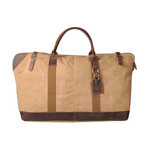 Borsone Borsone da viaggio in tela vinpak notte Weekend Satchel borse borsa borse, grigio (Grigio) - V-203 grigio