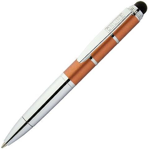 Online - Penna a sfera Piccolo con funzione di pennino per display touch, colore: Arancio