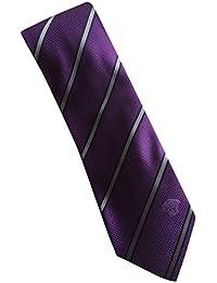 "Versace Purple Grey Stripe 100% Silk Men's Tie 3"" Wide"