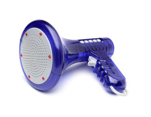 Voice Changer - Altoparlante con funzione di distorsione vocale, 10 differenti effetti, colore: Blu
