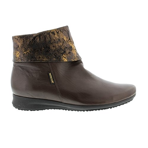 Mephisto Damen Fiducia Silk 7851/Queen 14717 Kurzschaft Stiefel Brown