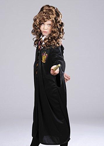 Kindergröße Hermine Granger Style Kostüm Large 8-10 (Perücke Hermine Granger)