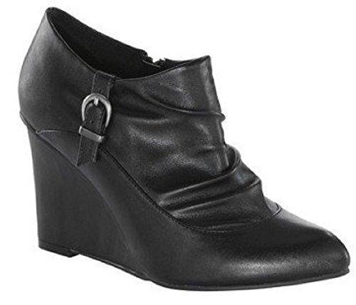 Modern Woman  Stiefelette, Chaussures de ville à lacets pour femme Noir - Noir