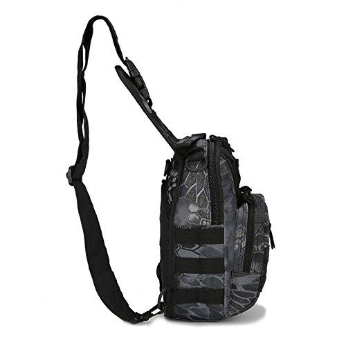 LF&F backpack Militärfans Tarnung kleine Brusttasche Reitschultertasche taktische Brusttasche Outdoor Bergsteigen tragbare Tasche Campingrucksack Wanderrucksack Männer und Frauen H