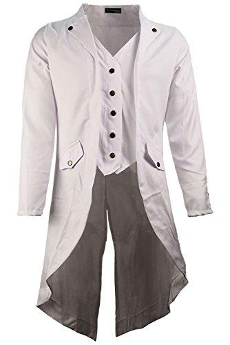Abrigo largo blanco elegante