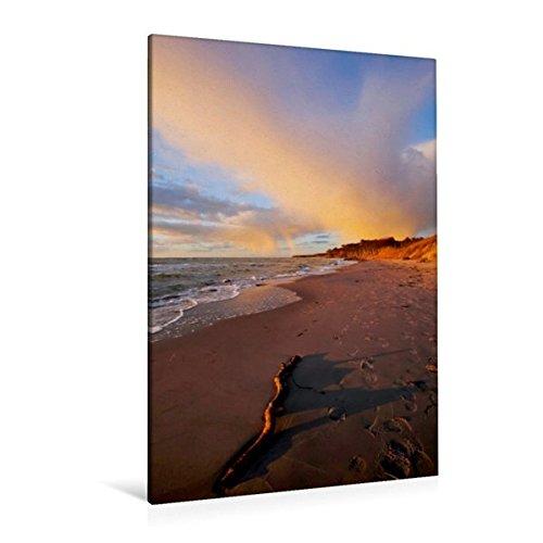Calvendo Premium Textil-Leinwand 80 x 120 cm Hoch-Format Strandspaziergang   Wandbild, HD-Bild auf Keilrahmen, Fertigbild auf hochwertigem Vlies, Leinwanddruck von Anette/Thomas Jäger Natur Natur