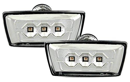 LED Seitenblinker Set in Klarglas Chrom