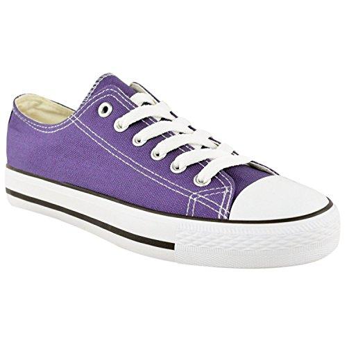 MYSHOESTORE  Canvas Shoes,  Damen Sneaker Low-Tops Violett