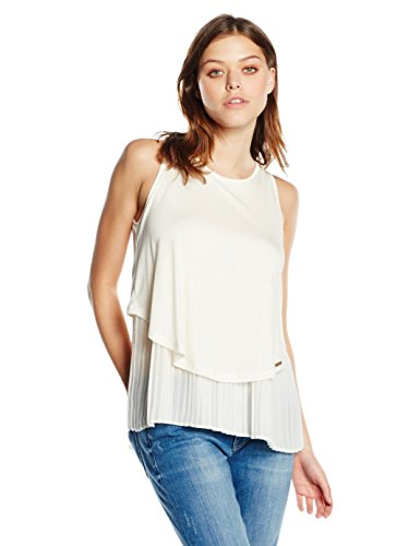 BOSS Orange Damen Top 50318388, Weiß (Natural 108), Small
