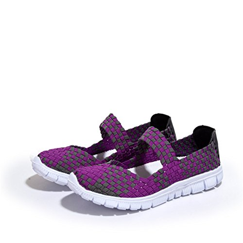 L-RUN Womens Sport Performance Schuhe Gym Mary Jane Trainer Komfortable Lila - Jane Purple Mary Schuhe