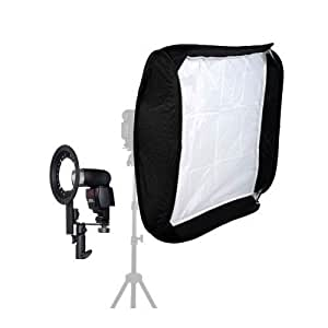 "24"" 60cm x 60cm EZ-Fold Studio Softbox Kit with 2 x Diffusers and for Portable Flash and Speedlite"