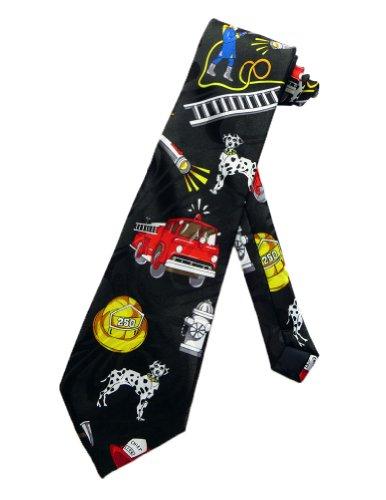 Steven Harris Männer Feuerwehrmann Feuer Krawatte - schwarz - Einheitsgröße