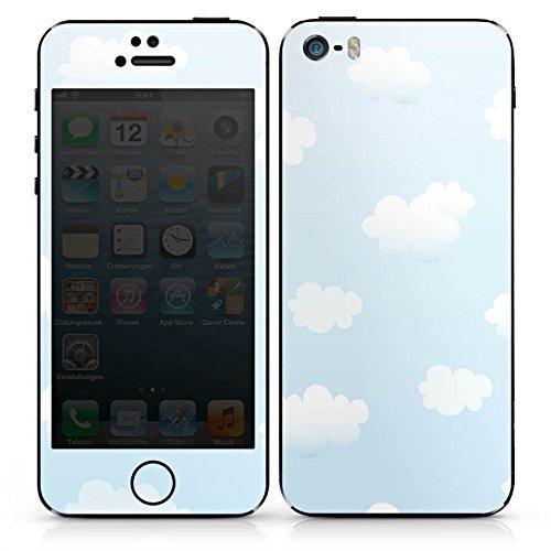 Apple iPhone 4s Case Skin Sticker aus Vinyl-Folie Aufkleber Wolken Himmel Wolkenmuster DesignSkins® glänzend