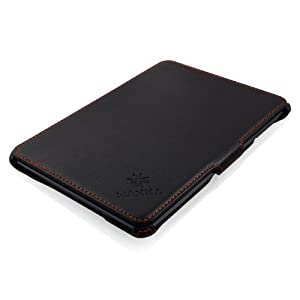 L'étui en noir avec de surpiqûres en rouges très élégant et luxe avec de détails et une finition bien soignés en sur-mesure, est l'idéal accessoire pour votre iPad Mini 3. Cet étui léger vous offre deux solutions en une: protection & station...