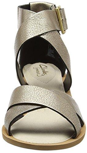 Clarks 261228724, Sandali Donna Argento (Champagne)