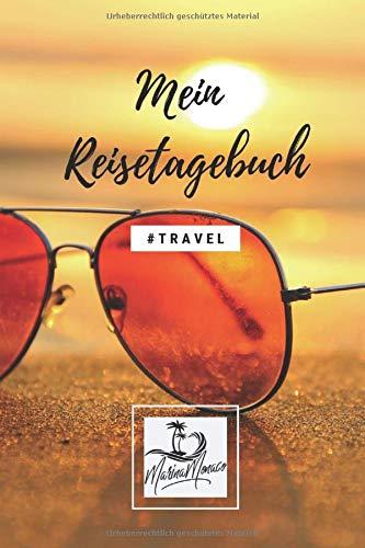 Mein Reisetagebuch (Travel) - Sonnenbrille: Schönes Wanderlust & Urlaubstagebuch | Gepunktetes Notizbuch mit 120 Seiten zum Selberschreiben | Perfekte Geschenkidee - 6x9