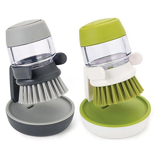 1Stück Palm Scrub Spülbürste mit Seifenspender-Aufbewahrung Ständer Küche Reinigung Werkzeuge