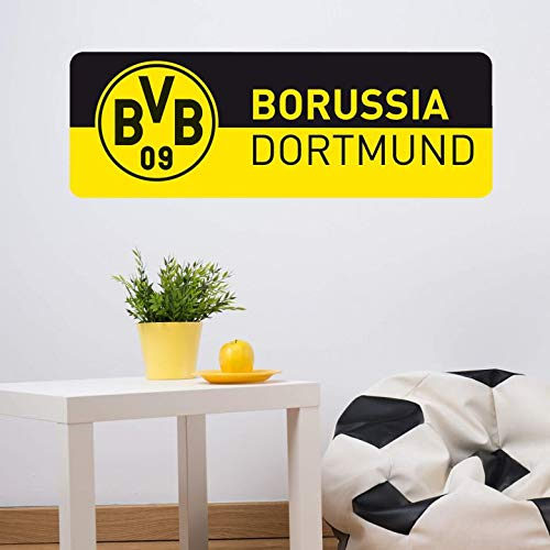 Wandtattoo BVB 09 Schriftzug Banner schwarz/gelb Dortmund Fußball Bundesliga Fans Borussia Wall-Art - 80