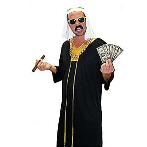 Deguisement Adulte Cheikh Tunique et Coiffe taille Unique