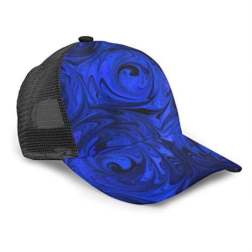 Unisex Baseballmütze China Blue Rose Abstrakte Snapback Hüte Trucker Hip Hop Verstellbare Kappe