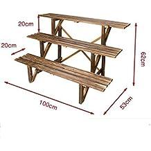 Portavasi legno a scala for Scaletta portavasi