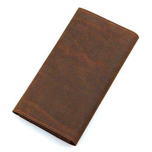 DRF Portafoglio in Pelle Vintage da Uomo custodie per tessere da viaggio porta passaporto #BG-222 (2)