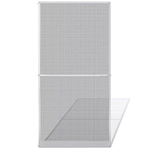 tidyard Mosquitera Fija de Tamaño Ajustable con Doble Asa para Puertas Abatibles 120 x 240 cm Blanco