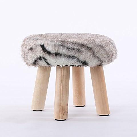 Tabouret de mode simple petit banc en bois massif tabouret tabouret chaussure changement canapé tabouret bas créatifs petit tabouret amovible,G,30*28cm