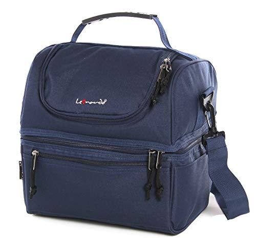 Leonardo borsa porta pranzo - grande capacità borsa termica impermeabile borsa frigo con materiale di qualità, portapranzo per ufficio picnic campeggio viaggio mare navy