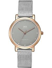 5e05f9579e135 Q Q Reloj Analógico para Mujer de Cuarzo con Correa en Acero Inoxidable  QQA21J412Y