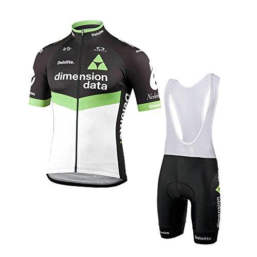 logas Herren Radtrikot Set Cycling Short Sleeve Jersey + Bike (Bib) Shorts 3D Gel Pad atmungsaktiv Team Radtrikot 2018 -