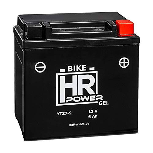 GEL Motorrad Batterie Starterbatterie 12V 6Ah YTZ7-S wartungsfrei