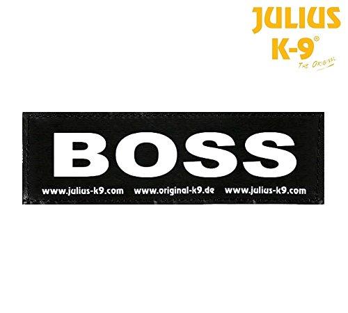 Julius-K9 Klettverschluss Boss–Paar von Etiketten für Latz Julius-Power oder Belt,...