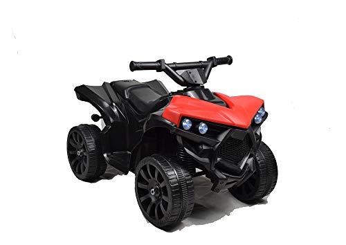 Toyscar Mini Quad Moto Elettrica per Bambini 6V con luci Rosso
