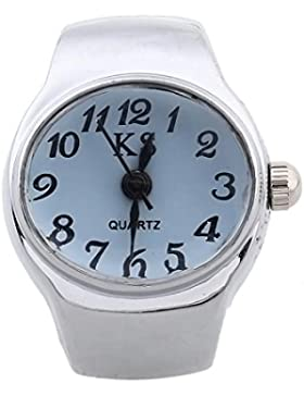 Ring Uhr Damen Ringuhr Fingeruhr Uhrenring Quarzuhr Legierung Lässig Gefragt NEU
