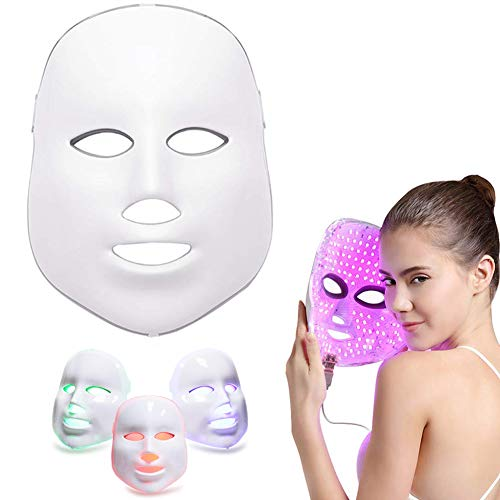 Silaite Whitening Daily Skin Care Facial Beauty Mask, 3 Color LED Mask Photon Light Skin Rejuvenation,Newest LED Photon Therapy,Facial Beauty Skin Care Light Treatment