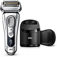 Braun Shaver 9390cc,Braun Series 9 9390cc Wet & Dry shaver with Clean & Charge station and leather tra