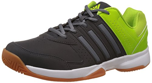 adidas Men's Acosta IN Grey and Green Volleyball Shoes - 7 UK