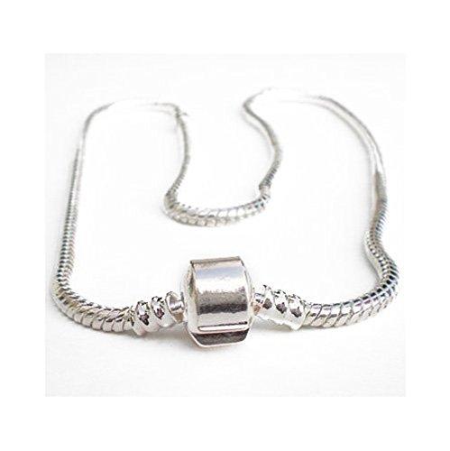 Andante-Stones Silber Halskette (50 cm) für European Beads + Organzasäckchen