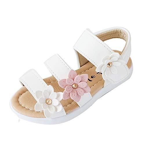 Mädchen Sandalen Kinderschuhe mit DREI Blumen/OSYARD Kleinkind Lauflernschuhe Prinzessin Schuhe Halbsandalen Soft Sole Strand Schuhe