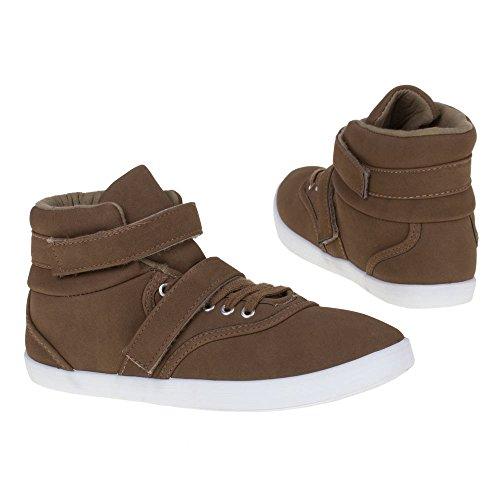Damen Schuhe, 3587B, FREIZEITSCHUHE Braun