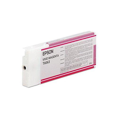 Epson T6063 Cartouche d'encre d'origine 1 x Magenta vif
