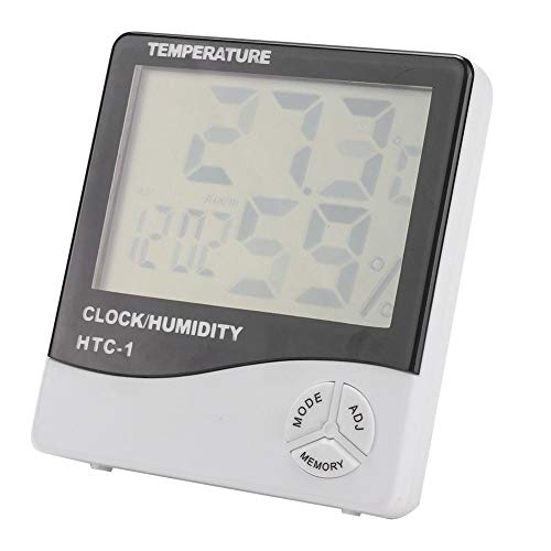 Bicaquu Indoor LCD Display Digitales Thermometer Hygrometer für Reptilienzuchtbecken -