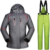 JESSIEKERVIN YY3 Damen Mountain Waterproof Ski Jacke und Hose Set